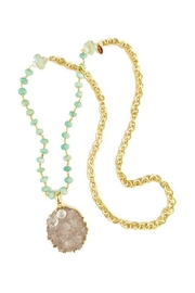 Gemma Collection Amazonite Druzy Necklace - Front cropped