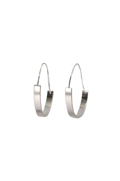 Shoptiques Product: Architectural Silver Hoops