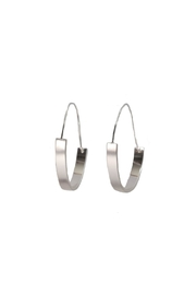 Gemma Collection Architectural Silver Hoops - Product Mini Image