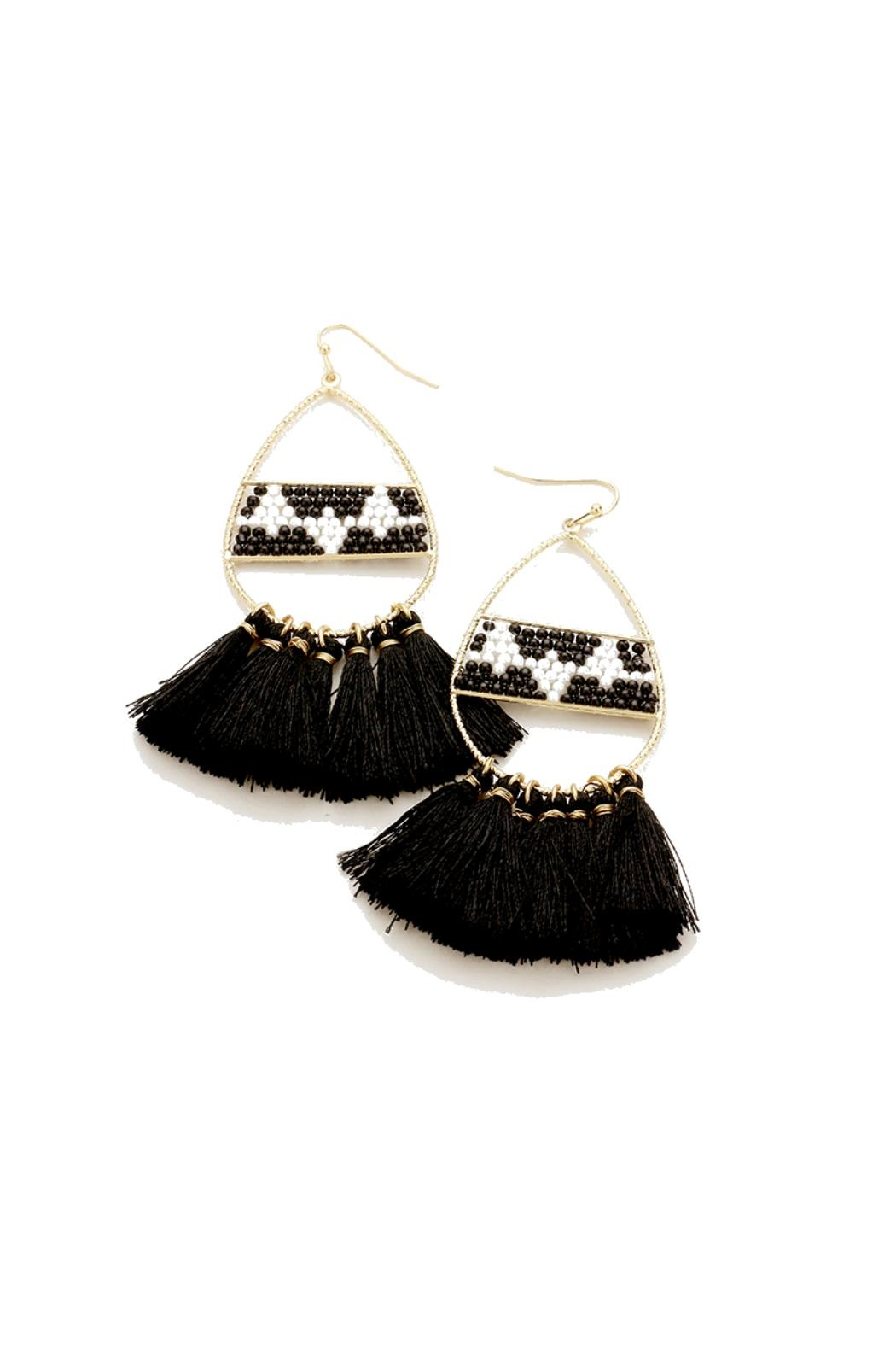 Gemma Collection Aztec Tassel Earrings - Front Cropped Image
