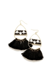 Gemma Collection Aztec Tassel Earrings - Front cropped