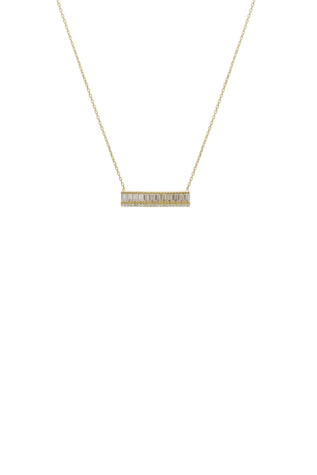 Gemma Collection Baguette Bar Necklace - Main Image