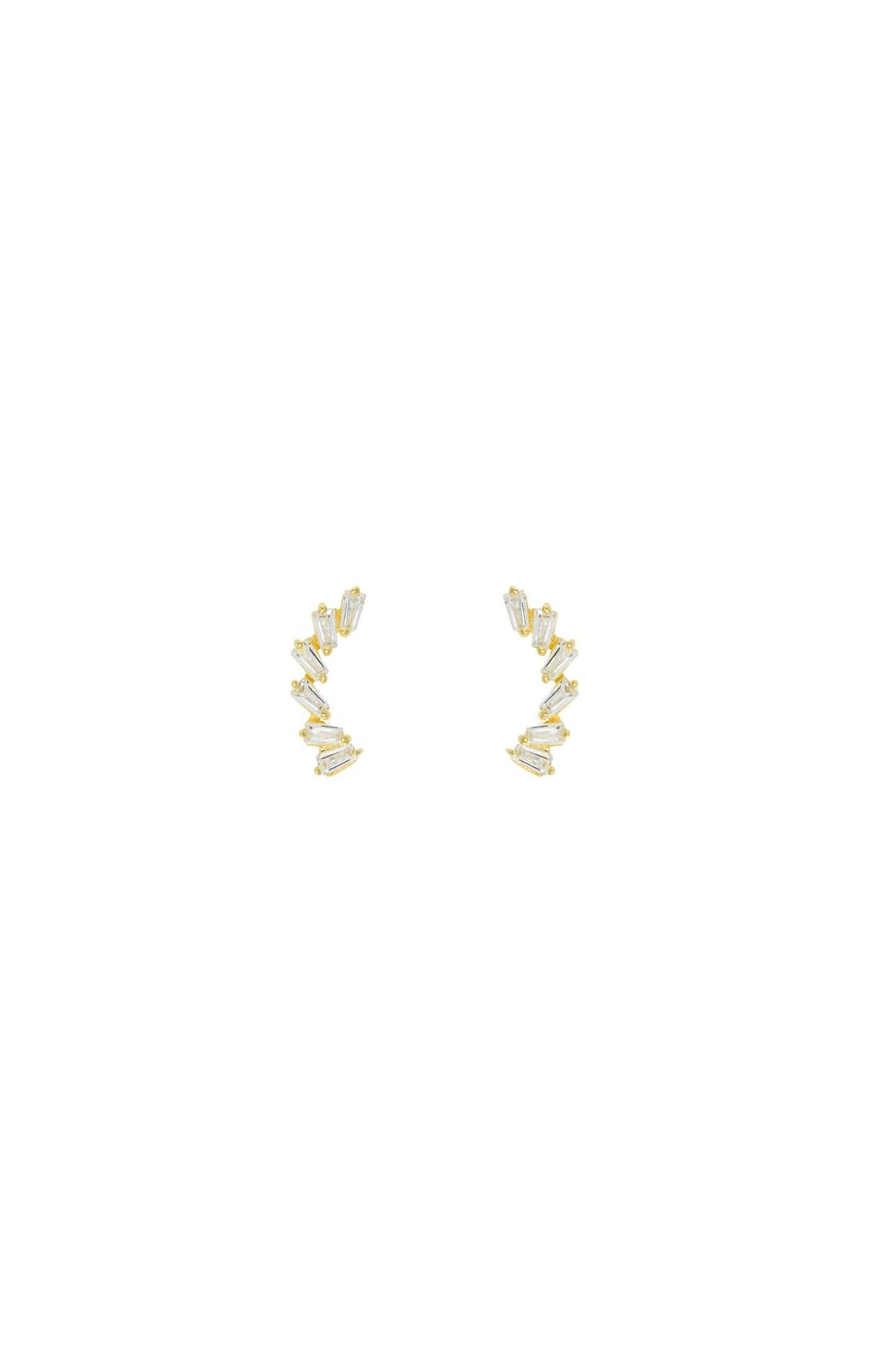 Gemma Collection Baguette Climber Earrings - Main Image