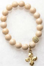 Gemma Collection Beaded Clover Bracelet - Product Mini Image