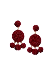 Gemma Collection Beaded Garnet Earrings - Front cropped