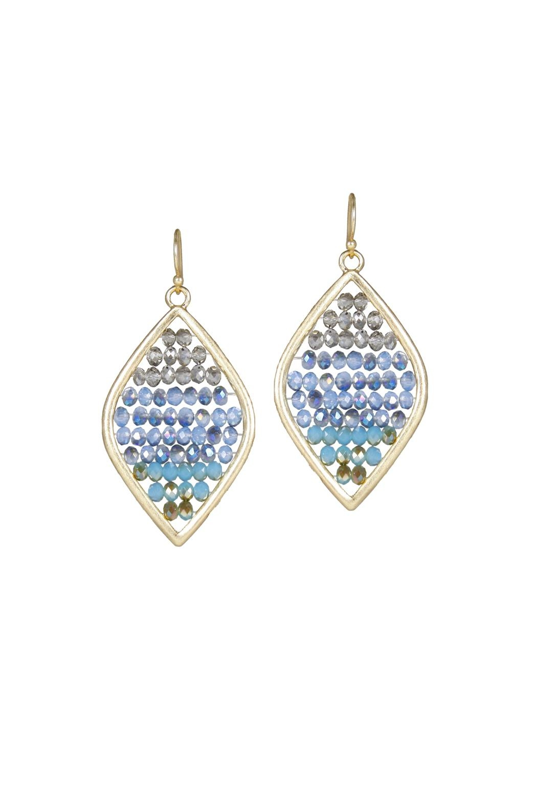 Gemma Collection Beaded Marquise Earrings - Main Image