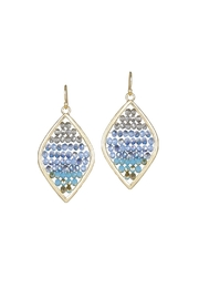 Gemma Collection Beaded Marquise Earrings - Front cropped