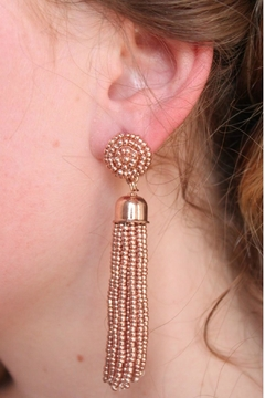 Shoptiques Product: Beaded Tassel Earrings