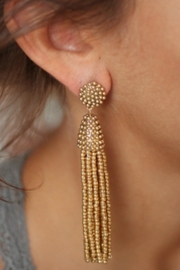 Gemma Collection Beaded Tassel Earrings - Product Mini Image