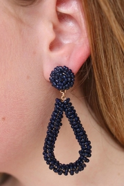 Gemma Collection Bela Navy Earrings - Front cropped
