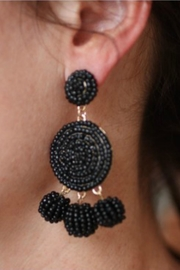 Gemma Collection Black Eliano Earrings - Product Mini Image