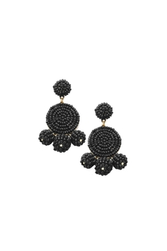 Gemma Collection Black Statement Earrings - Product List Image