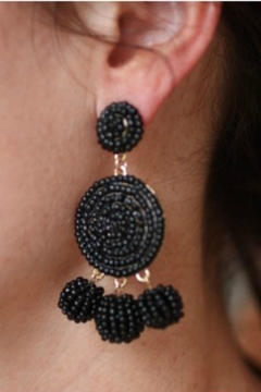Gemma Collection Black Statement Earrings - Alternate List Image