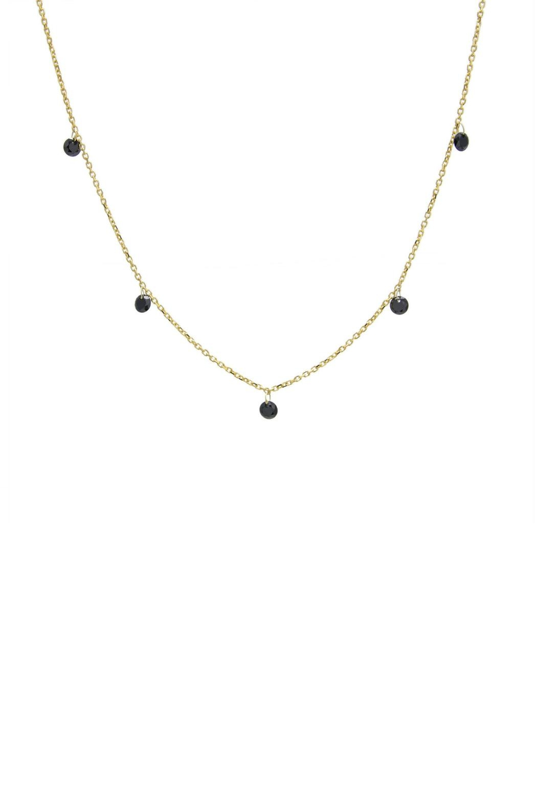 Gemma Collection Black Station Necklace - Main Image