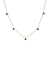 Gemma Collection Black Station Necklace - Front cropped
