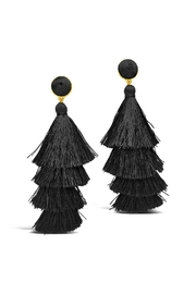 Gemma Collection Black Tassel Earrings - Front cropped