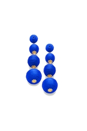 Gemma Collection Blue Ball Earrings - Product Mini Image