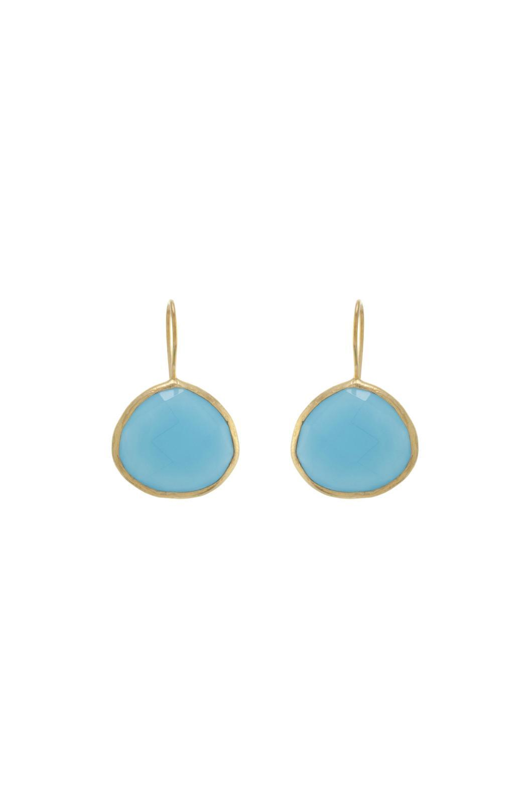 Gemma Collection Blue Chalcedony Earrings - Main Image