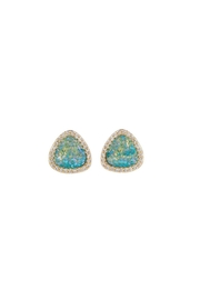 Gemma Collection Blue Triangle Druzy Studs - Product Mini Image
