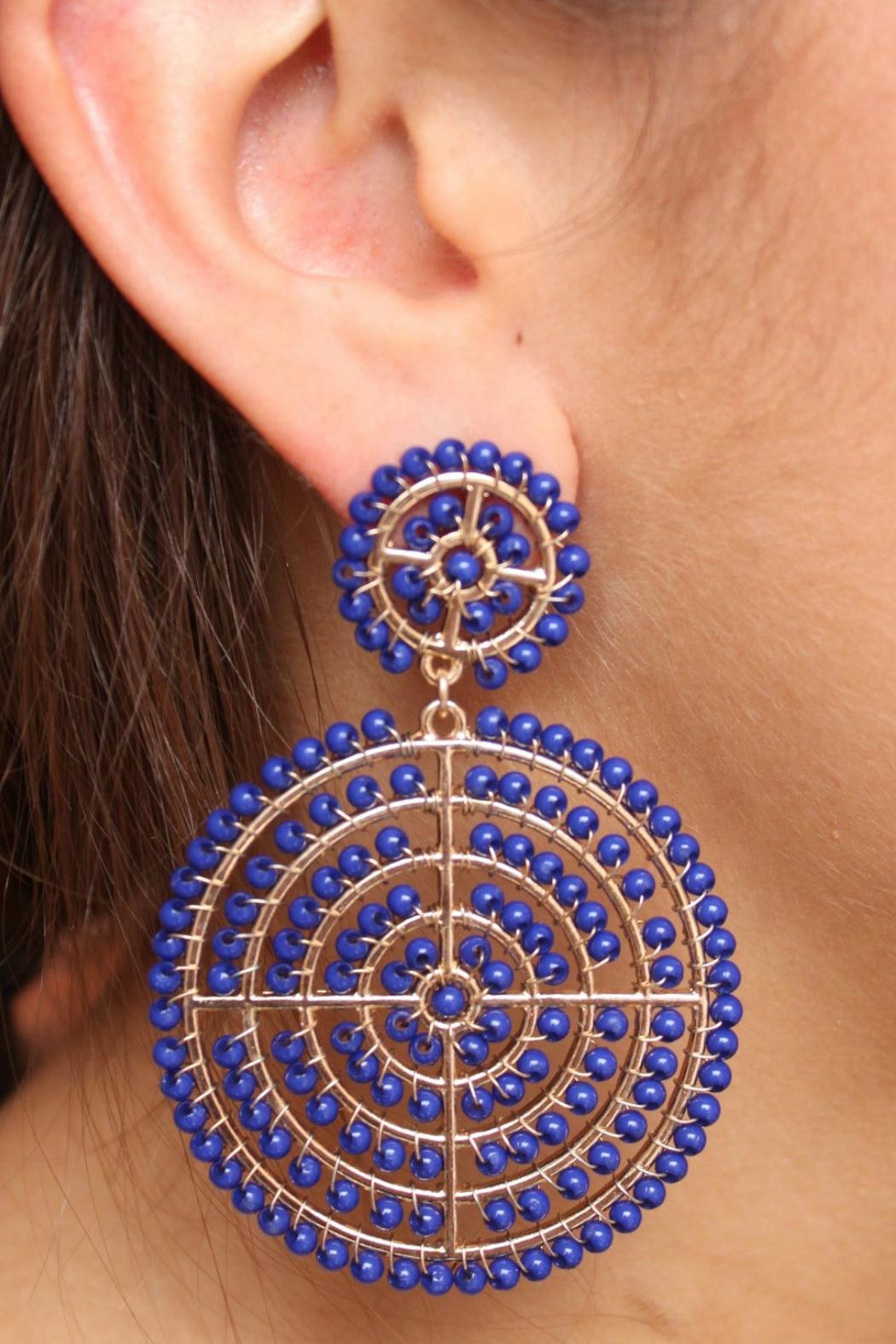 Gemma Collection Blue Robusta Earrings - Main Image