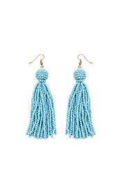 Gemma Collection Blue Tassel Earrings - Front cropped