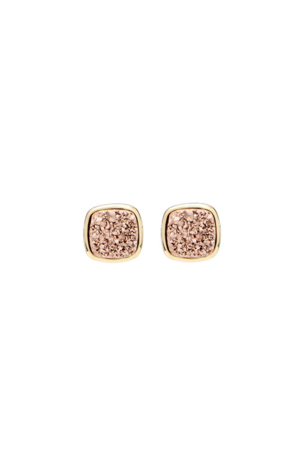 Gemma Collection Bronze Druzy Studs - Front Cropped Image