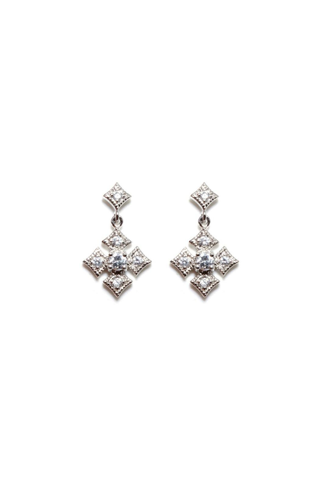 Gemma Collection Byzantine Cross Earrings - Front Cropped Image