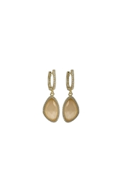 Gemma Collection Cats Eye Earrings - Product Mini Image