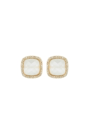 Gemma Collection Cats Eye Studs - Front cropped