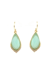 Gemma Collection Chalcedony Pave Earrings - Product Mini Image