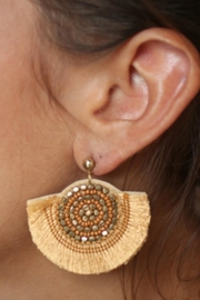 Gemma Collection Charleston Fan Earrings - Product Mini Image