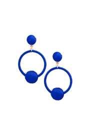 Gemma Collection Cobalt Statement Earrings - Product Mini Image