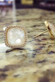 Gemma Collection Cracked Pearl Studs - Front full body