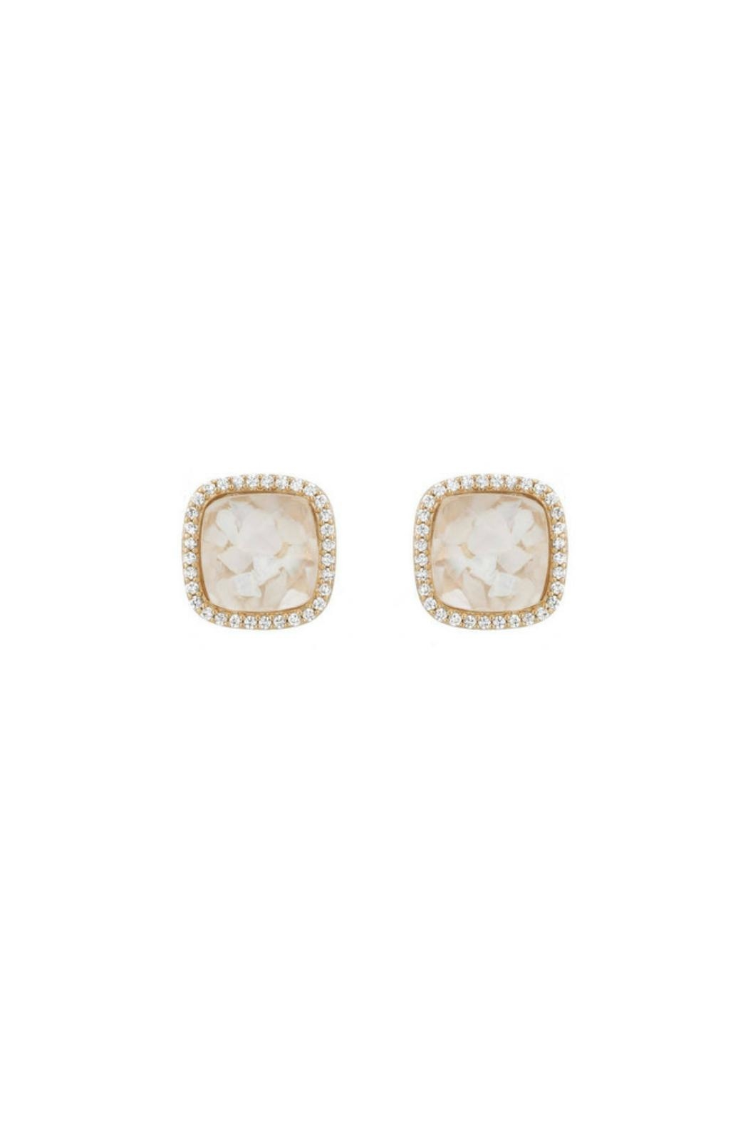 Gemma Collection Cracked Pearl Studs - Main Image