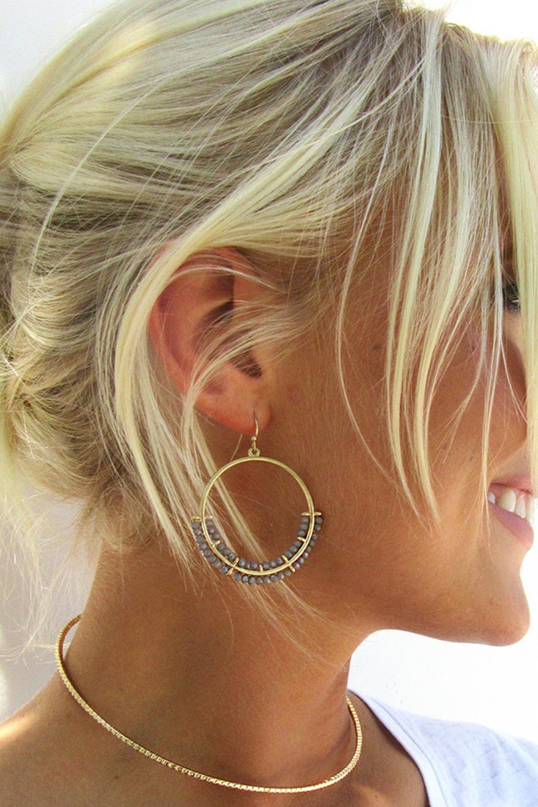 Gemma Collection Crystal Drop Earrings - Front Full Image