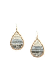 Gemma Collection Crystal Teardrop Earrings - Product Mini Image
