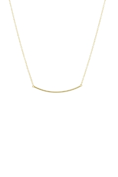 Gemma Collection Curved Bar Necklace - Product List Image