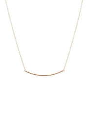 Gemma Collection Curved Bar Necklace - Product Mini Image