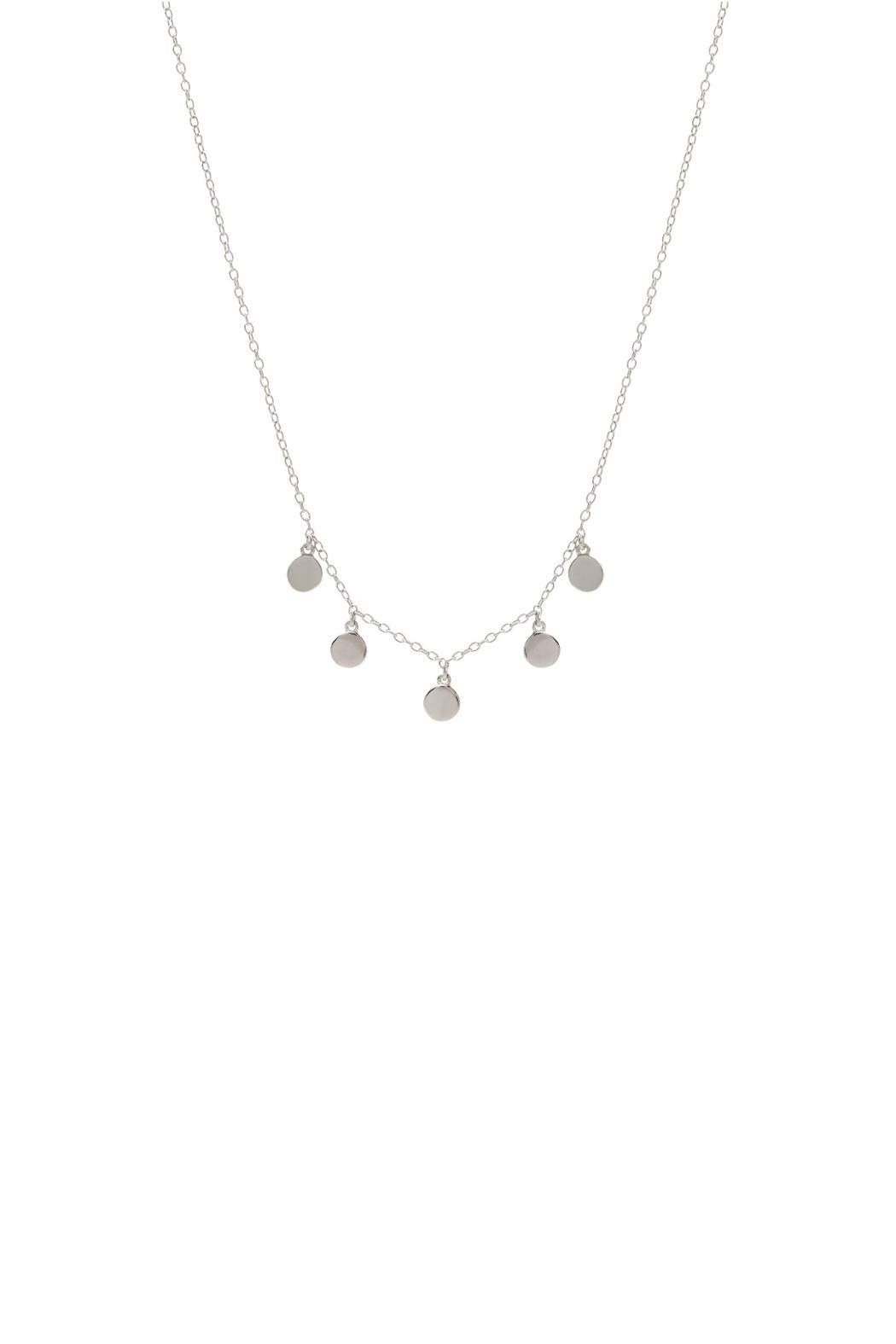 Gemma Collection Dangling Disc Necklace - Main Image