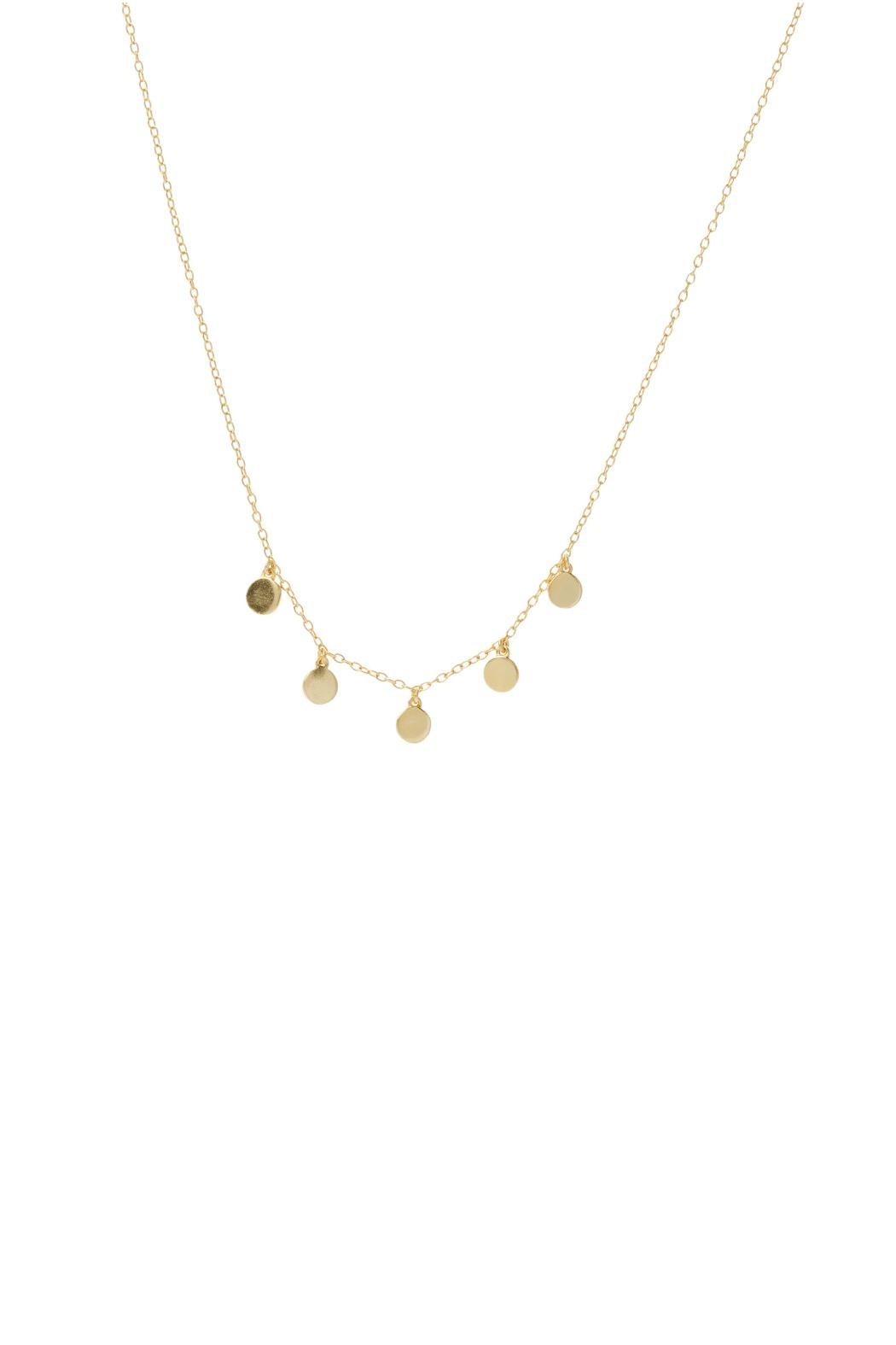 Gemma Collection Dangling Disc Necklace - Front Cropped Image