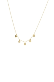 Gemma Collection Dangling Disc Necklace - Front cropped