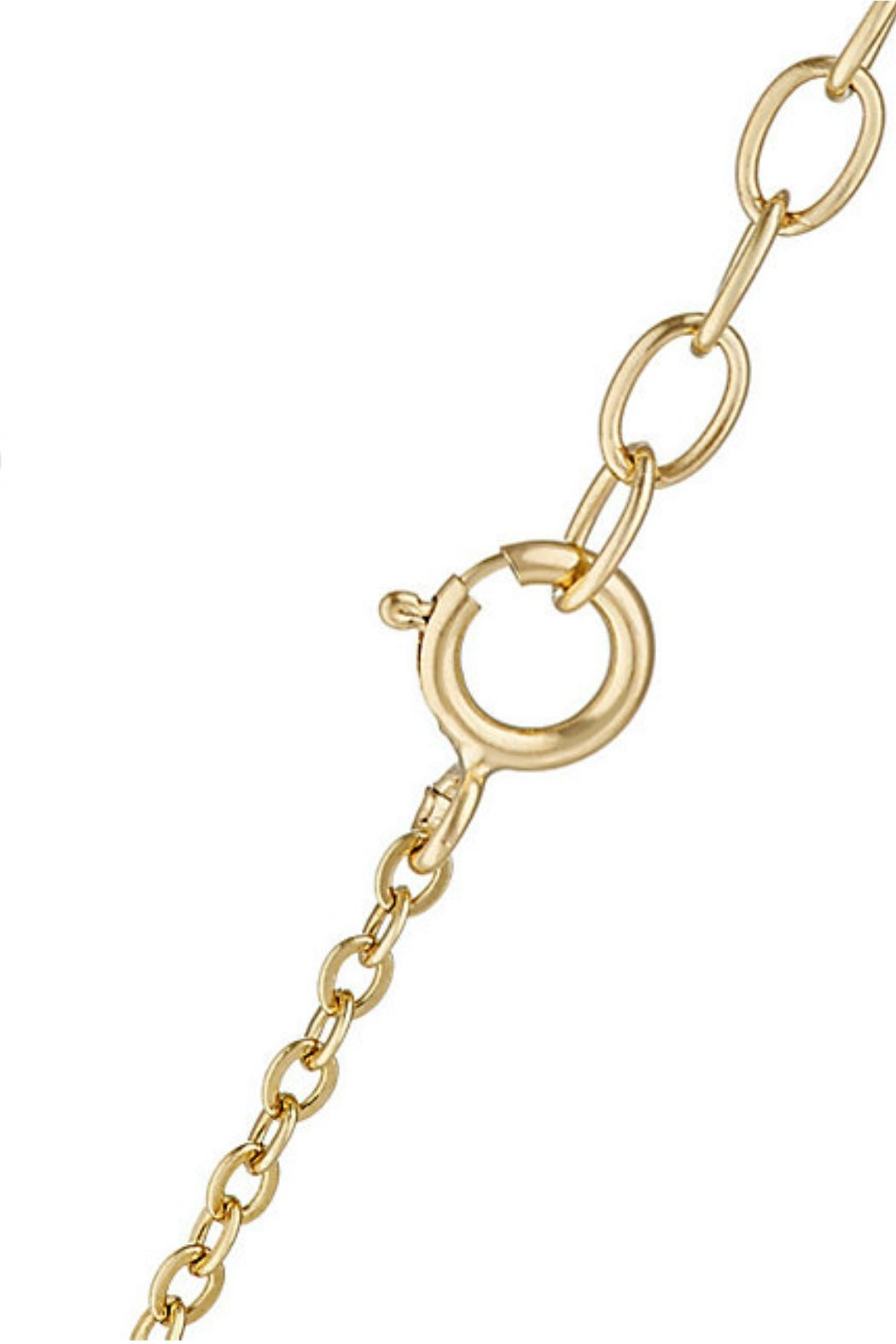 Gemma Collection Dangling Disc Necklace - Front Full Image