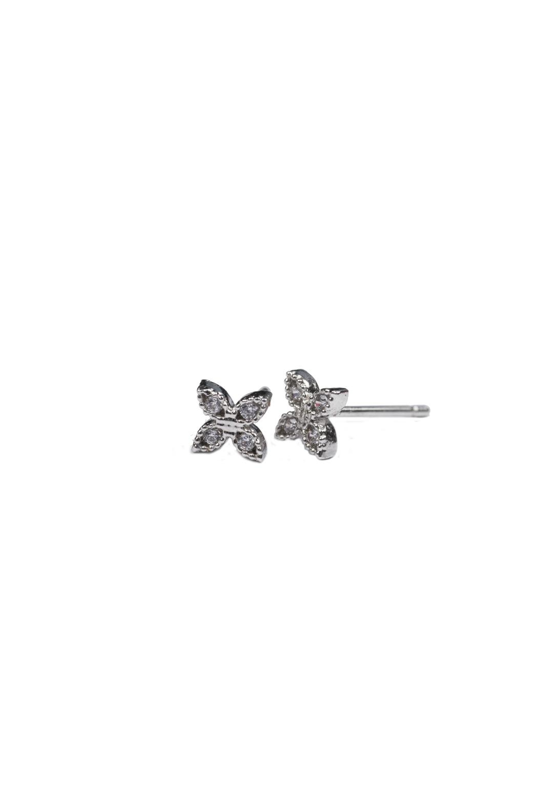 Gemma Collection Delicate Clover Studs - Main Image