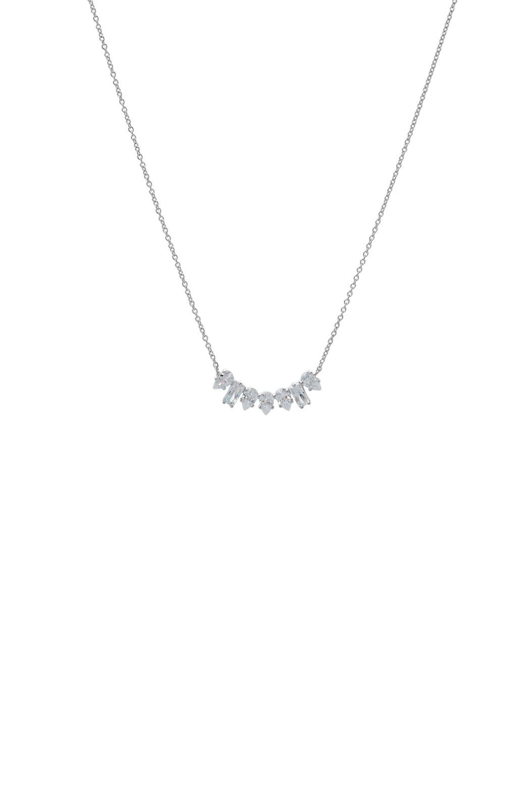 Gemma Collection Diamond Cluster Necklace - Main Image