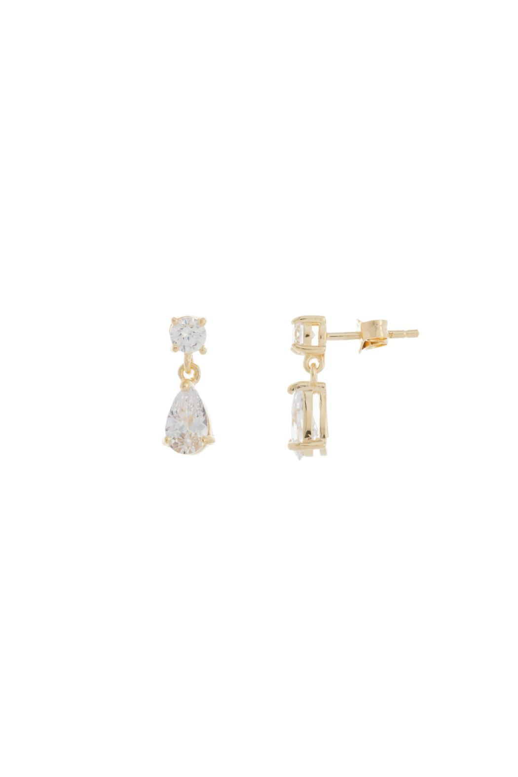Gemma Collection Diamond Drop Earrings - Front Cropped Image