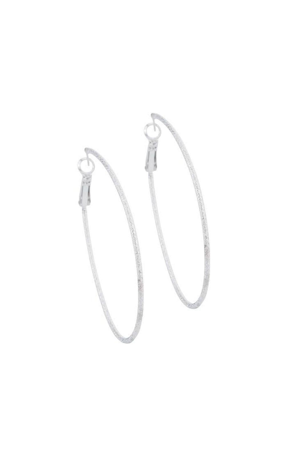 Gemma Collection Diamond Dust Hoops - Front Cropped Image