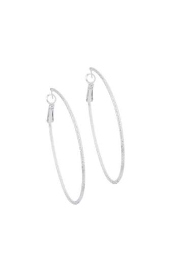 Gemma Collection Diamond Dust Hoops - Main Image