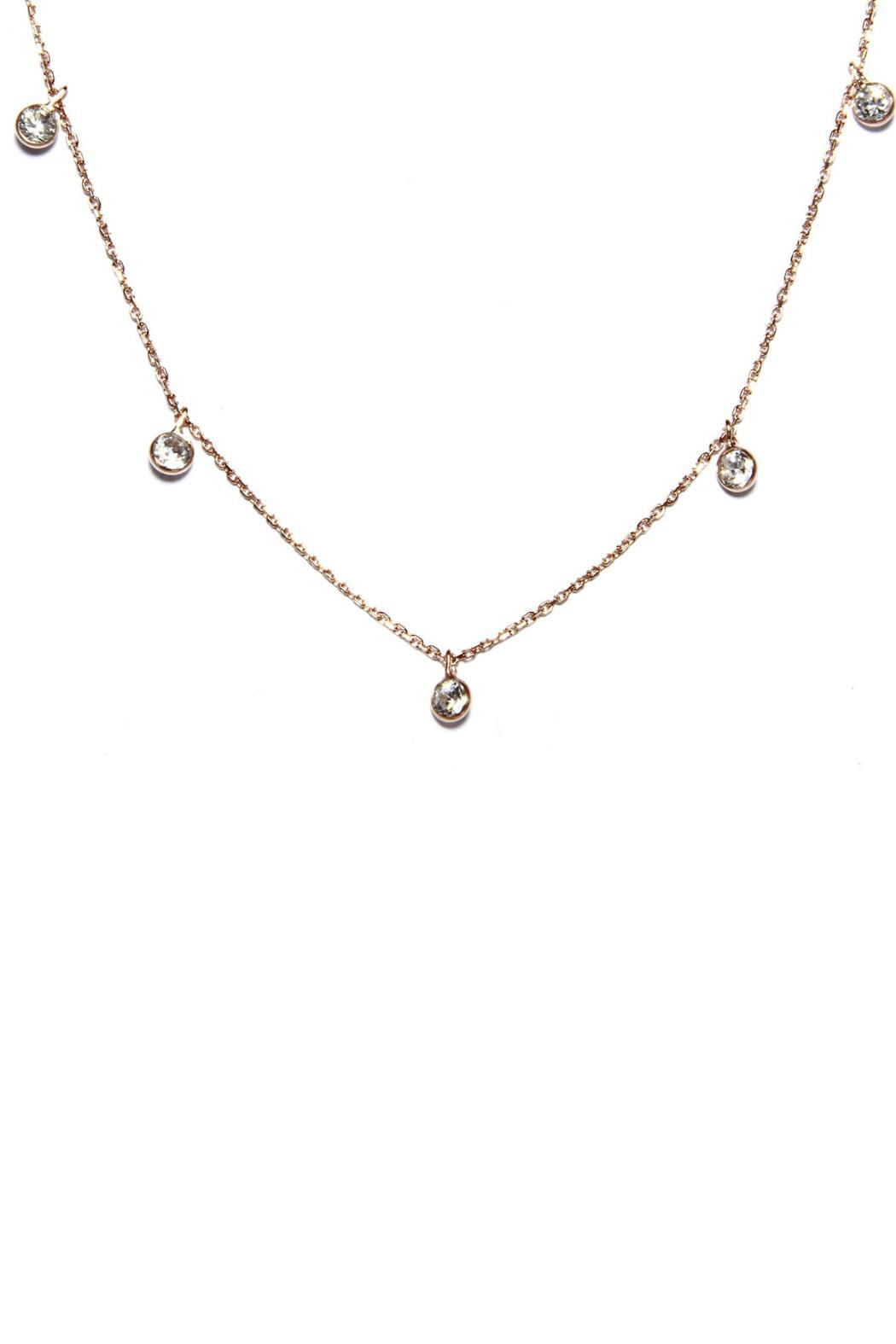 Gemma Collection Diamond Station Necklace - Main Image