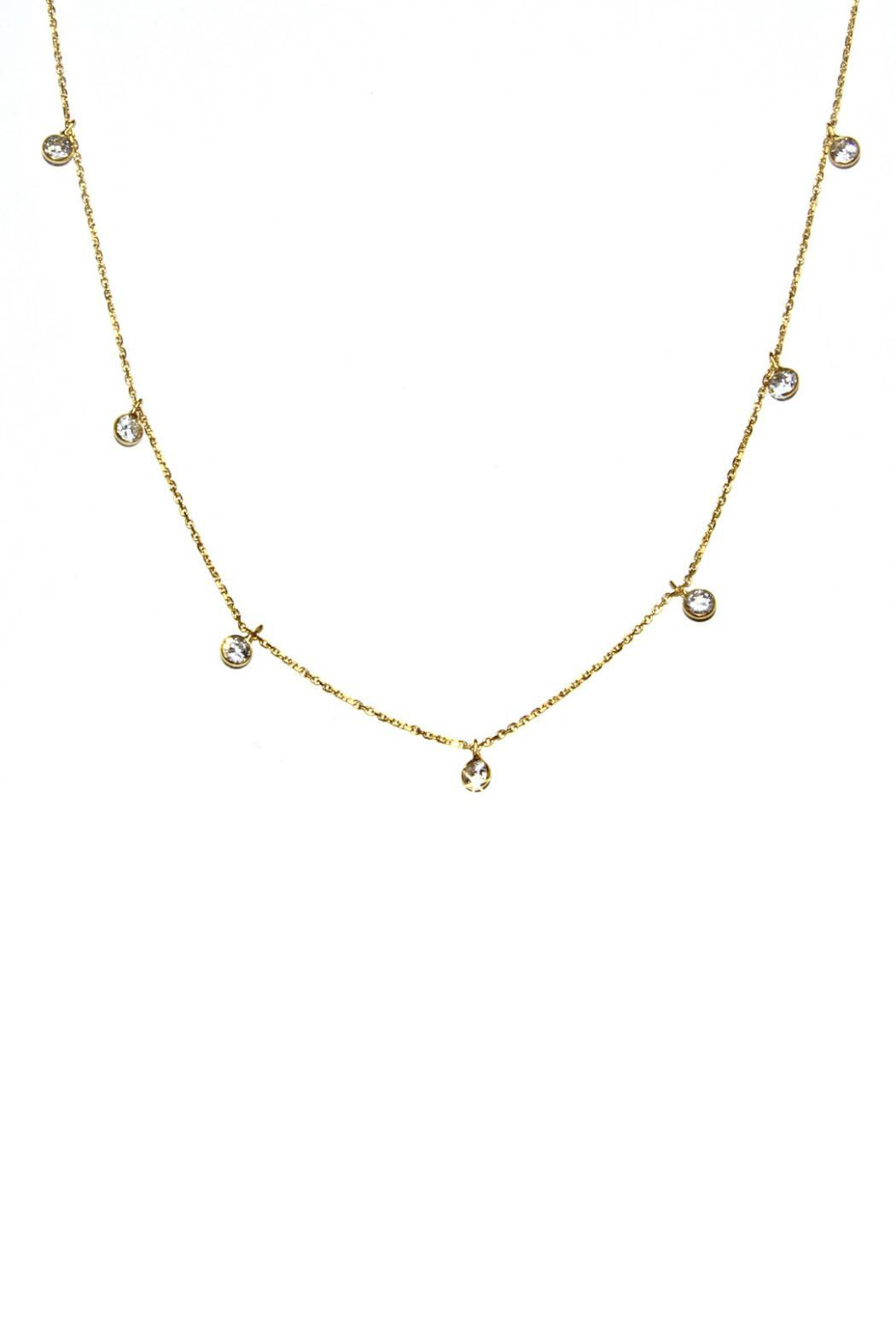 Gemma Collection Diamond Station Necklace - Front Cropped Image