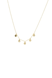 Gemma Collection Disc Station Necklace - Front cropped